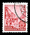 Stamps GDR, Fuenfjahrplan, 24 Pfennig, Offsetdruck 1953, 1957.jpg