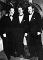 Stan Laurel, Walt Disney and Oliver Hardy in the mid 30's.jpg