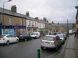 Hadfield, Derbyshire - Image: Station Road, Hadfield, Derbyshire, UK