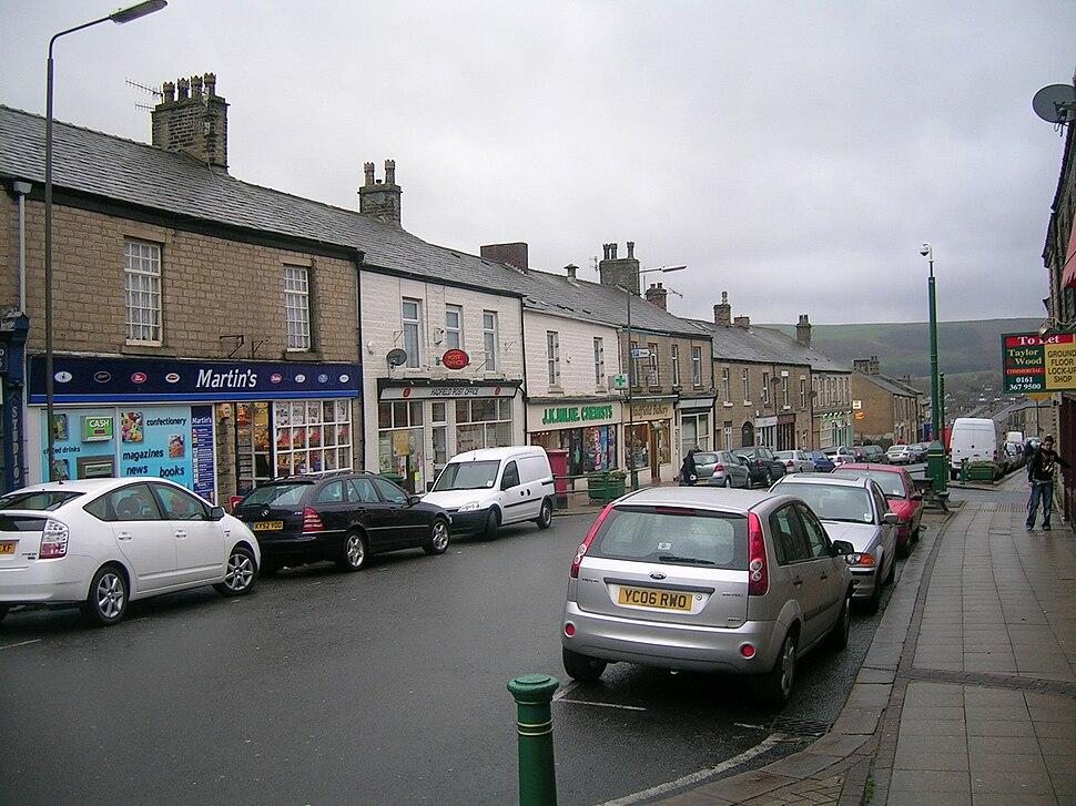 Station Road, Hadfield, Derbyshire, UK