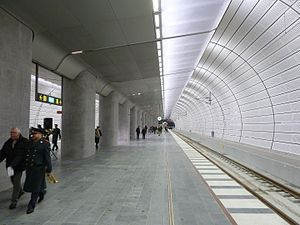 City Tunnel (Malmö) - The platforms of Triangeln station during the opening week
