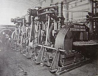 Steering engine - Steering engine of RMS Olympic, circa 1910