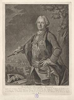 Burkhard Christoph von Münnich Russian general