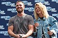 Stephen Amell and Emily Bett Rickards HVFFLondon2017Amell-ALS-13 (34469907444).jpg