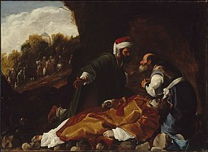 Gamaliel - Saint Stephen Mourned by Saints Gamaliel and Nicodemus, follower of Carlo Saraceni, c. 1615, Museum of Fine Arts, Boston