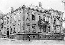Das sogenannte Stielerhaus in Gotha um 1910, ca. 2005 abgebrochen (Quelle: Wikimedia)