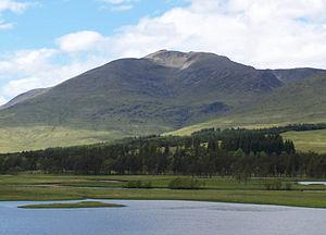 Stob Ghabhar - Stob Ghabhar seen from the south east across Loch Tulla.