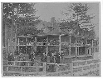 Alki Point, Seattle - Theodore Peiser's photo of the Stockade Hotel on November 13, 1905
