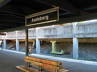 Informal part of Hägersten in Stockholm, Sweden