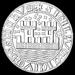 Stockholm during the Middle Ages - Image: Stockholms stads äldsta sigill