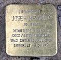 Stolperstein Auguststr 27 (Mitte) Josef Kramer.jpg