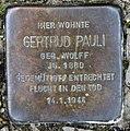 Stolperstein Gerolsteiner Str 3 (Wilmd) Gertrud Pauli.jpg
