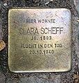 Stolperstein Goßlerstr 21 (Fried) Clara Scheff.jpg