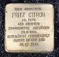 Stolperstein Hardenbergstr 31 (Charl) Fritz Citron.jpg