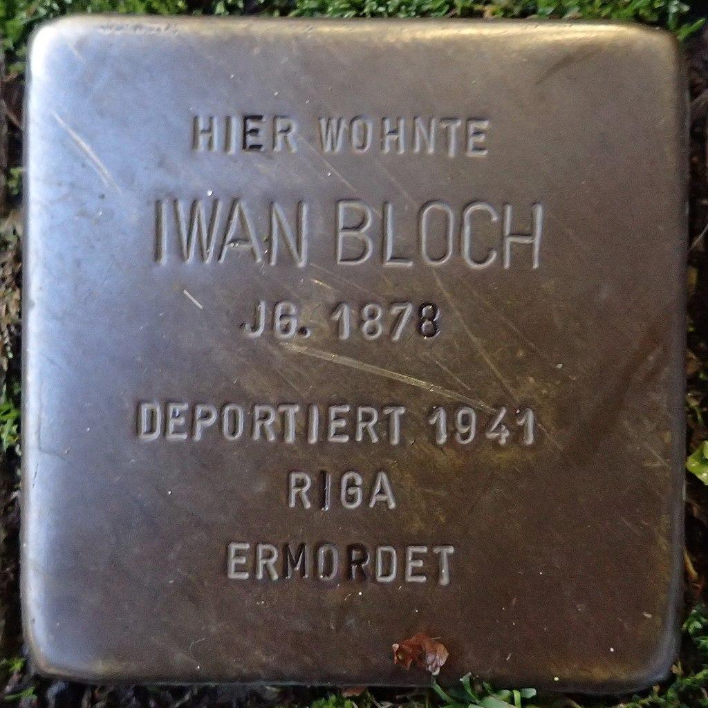 Stolperstein für Iwan Bloch