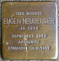 Stumbling block for Eugen Neuberger (Trierer Straße 17)