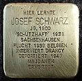 Stumbling block for Josef Schwarz (Schaurtestrasse 1)