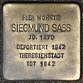 Stolpersteine Köln, Siegmund Sass (Elsaßstraße 59).jpg