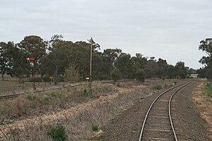 Strathmerton railway station - Image: Strathmerton junction to Cobram