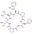 Structural formula of phakellistatin-13.png