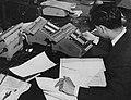 Student working in Statistics Machine Room, 1964.jpg