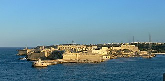 Fort Ricasoli - View of Fort Ricasoli from Valletta