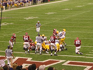 In-game scene from the 2004 Sugar Bowl game in...