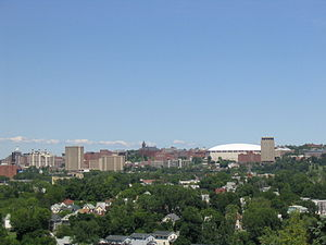University Hill, Syracuse - University Hill skyline