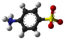 Ball-and-stick model of sulfanilic acid