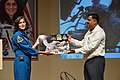 Sunita Lyn Williams Presents NASA Image to Arijit Dutta Choudhury - Science City - Kolkata 2013-04-02 5838.JPG