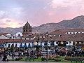 Sunset on Cusco's Plaza de Armas (6075640900).jpg