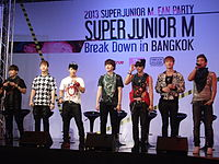 Super Junior at press conference of Super Junior M Breakdown in Bangkok.JPG