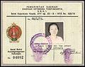 Surat Bukti Kewarganegaraan Indonesia from 1973, obverse.jpg