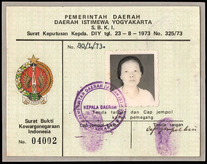 Discrimination against Chinese Indonesians - An early SBKRI