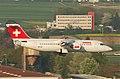 Swiss Avro RJ 100; HB-IXT@ZRH;16.04.2011 595cy (5628854867).jpg