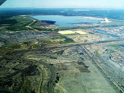 Syncrude's Mildred Lake mine site and plant