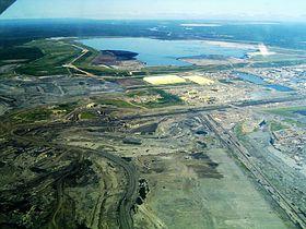 Разработка битуминозных песков в Альберте