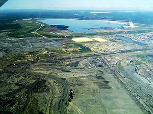 Athabasca oil sands - Syncrude's Mildred Lake mine site and plant