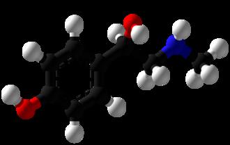 Synephrine - Image: Synephrine Ball and Stick