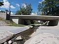 Szabadság Square's Bridge & Bükkös Brook from E. - Szentendre.JPG