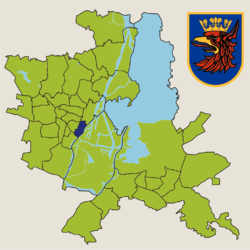 Location of Stare Miasto within Szczecin