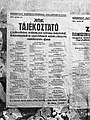 Tájékoztató a nyilvános óvóhelyekről, 1944-04-24 Budapest Fortepan 72697.jpg