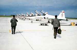 Vance Air Force Base - T-38A Talons of the 25th FTS at Vance AFB in November 1997.