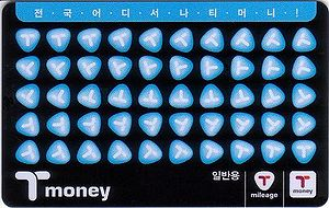 Seoul Metropolitan Subway - T-money smart card