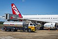 TAM Airbus A320 being refuelled at Foz do Iguaçu International Airport.jpg