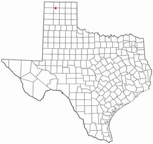 Cactus, Texas - Image: TX Map doton Cactus