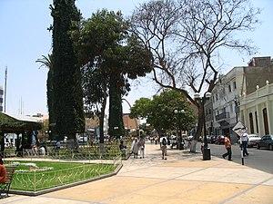 Tacna - Tacna Armas Square (Plaza de Armas) in San Martin area