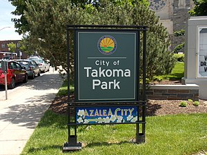 Takoma Park, Maryland - Welcome sign