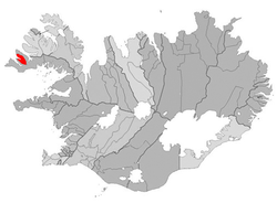 Location of the Municipality of Tálknafjarðarhreppur