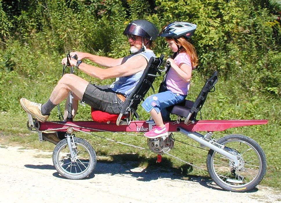 Tandem recumbent bicycle